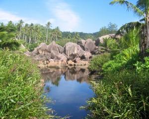 Paisaje de Seychelles