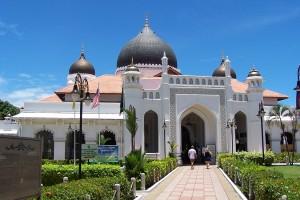 Una mezquita en la ciudad de George Town