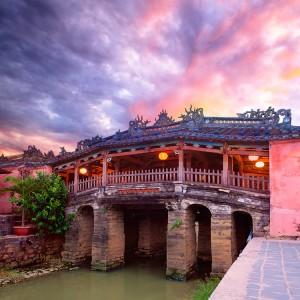 El puente japonés en  Hoi An
