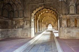 Inlaid marble, columns and arches, Hall oEl fuert rojo en Delhi