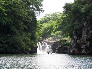 Cascada vista desde una barca