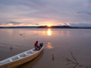 El lago Baringo al amanecer