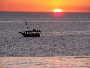 Atardecer en el oceano Indico