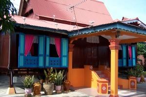 Casas típicas de Malaka
