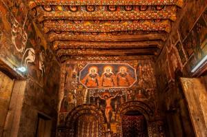 La iglesia de Debre Birhan Selassie en  Gondar
