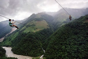 Kids Flying 800m On A Steel Cable 400m Above The Rio Negro River, Colombia1 Copyright Christoph Otto