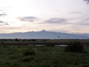 Vista del Monte Kenia desde Ol pejeta
