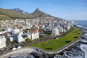 Vista aréa de Ciudad del Cabo