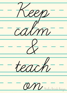 Watermark keep calm and teach on