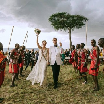 Boda muy especial en Masai Mara, Kenia  /  A unique wedding in the Masai Mara, Kenya