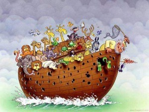 Noah´s ark and the wood pecker.
