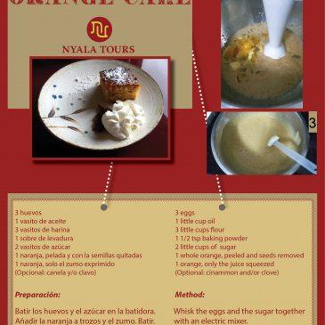 Receta de Bizcocho de Naranja   Recipe of Orange Cake