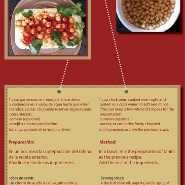 Recetas con Tahina y Humus    Recipes with Tahini & Hummus