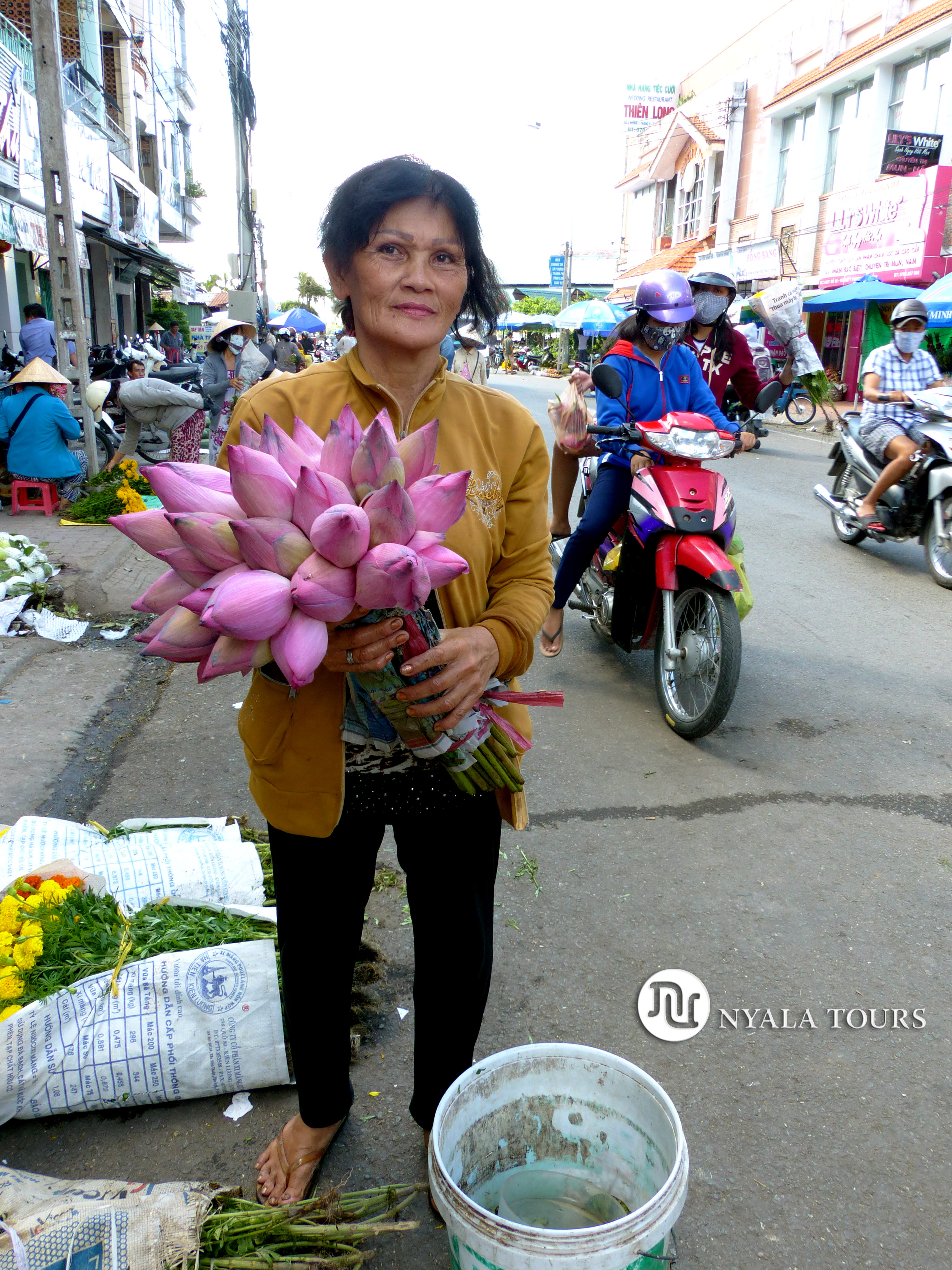 Flower Vender, Mekong Vietnam