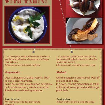 Recetas de Berenjenas con Tahina o Mayonesa   Recipe of eggplant with Tahini or Mayonaise