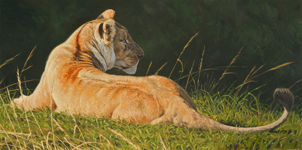 Savannah-Gold-Oil-Painting-by-Aaron-Blaise