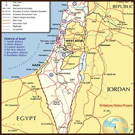 Antiguo Israel y Fenicia Mapa